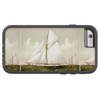 Mar náutico del océano de la navegación del velero funda de iPhone 6 tough xtreme