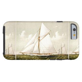 Mar náutico del océano de la navegación del velero funda de iPhone 6 tough