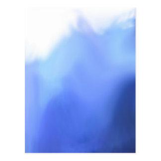 mar o cielo azulado abstracto de la acuarela postal