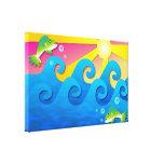 Mar ondulado impresión en lienzo estirada