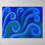 Mar ondulado poster