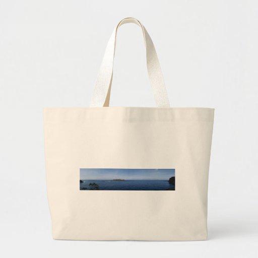 Mar panorámico del océano de la escena de la foto  bolsa lienzo