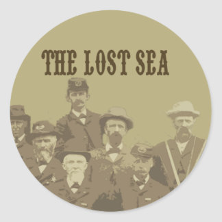 mar perdido pegatina redonda