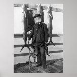 Mar profundo Fisherman, 1912 Poster