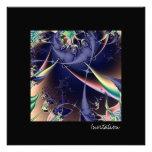 Mar profundo I · Arte del fractal · Azul Invitación