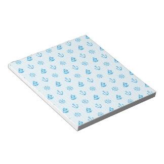 Mar que hace punto la libreta azul blocs de notas