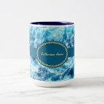 Mar que remolina personalizado tazas de café