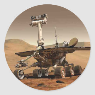 Mar rover space design classic round sticker