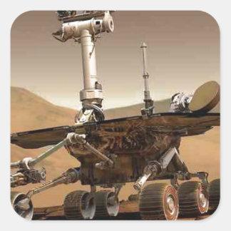 Mar rover space design square stickers