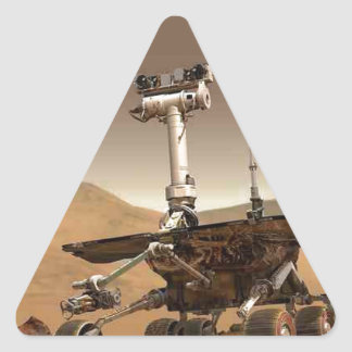Mar rover space design triangle sticker