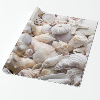 Mar Shell y fondo de las estrellas de mar - Papel De Regalo