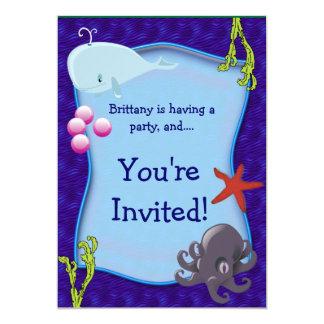 Mar subacuático - invitación marina de la fiesta