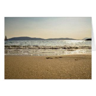 Mar temático, gorjeo apacible de las ondas adentro tarjeta de felicitación