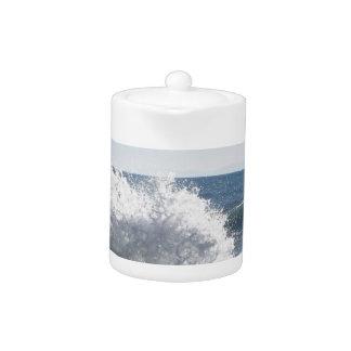 Mar tempestuoso a lo largo de la costa costa de