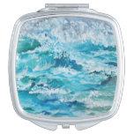 mar tempestuoso espejo compacto