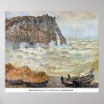 Mar tempestuoso (La Porte d'Aval) por Claude Monet Posters