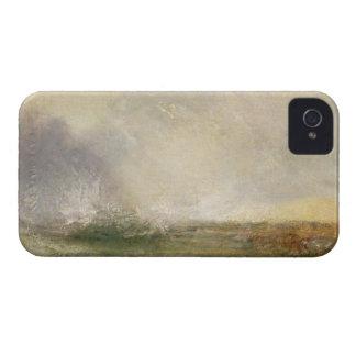 Mar tempestuoso que se rompe en una orilla, 1840-5 iPhone 4 Case-Mate carcasas
