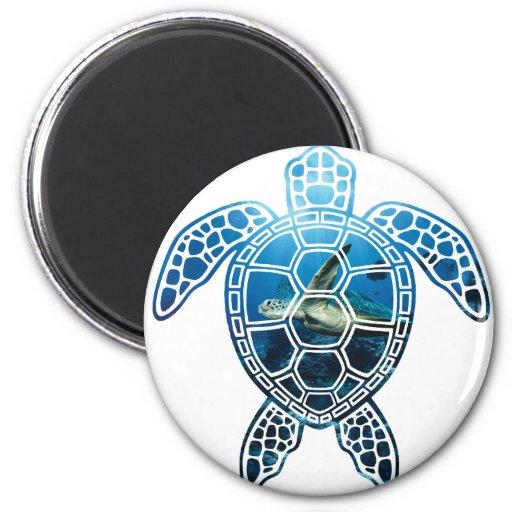 mar turtle-2 imán redondo 5 cm