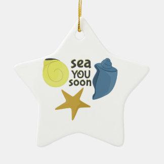 Mar usted pronto adorno de cerámica en forma de estrella