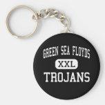 Mar verde Floyds - Trojan - alto - mar verde Llavero Personalizado