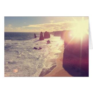 Mar Victoria Australia de la llamarada de Sun de Tarjeta De Felicitación