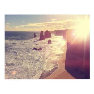 Mar Victoria Australia de la llamarada de Sun de Postal