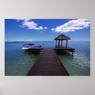 Mar y cielo azules de Mauricio Posters