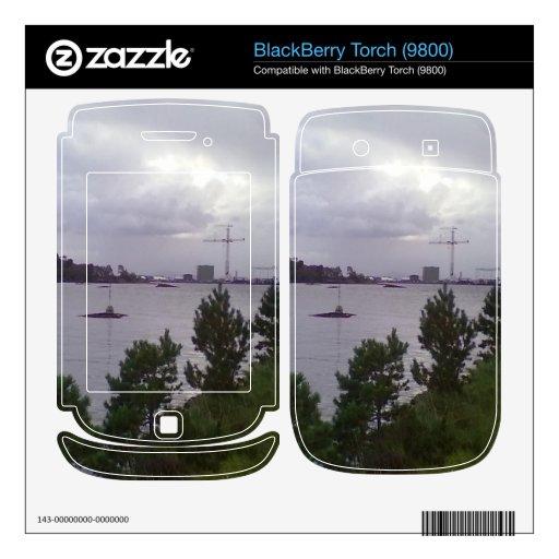 Mar y edificio calcomanías para BlackBerry