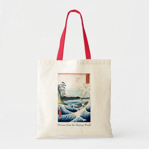Mar y el monte Fuji de Hiroshige Bolsa Tela Barata