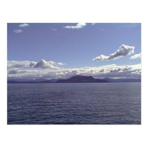 Mar y montaña postal