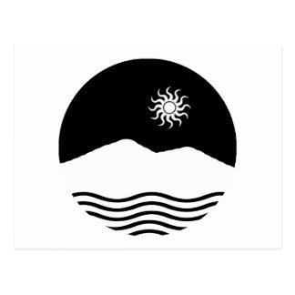 Mar y montaña tarjetas postales