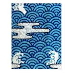Mar y nubes japoneses postales