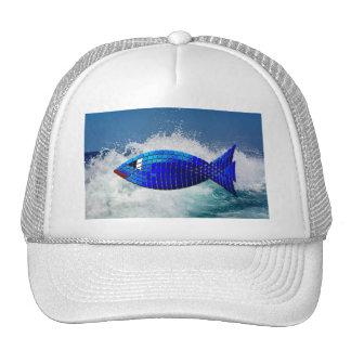 Mar y pescados del gorra del camionero