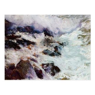 Mar y rocas - Jávea de Joaquín Sorolla- Tarjeta Postal