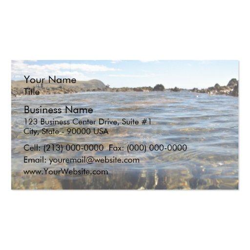 Mar y rocas tarjetas de visita