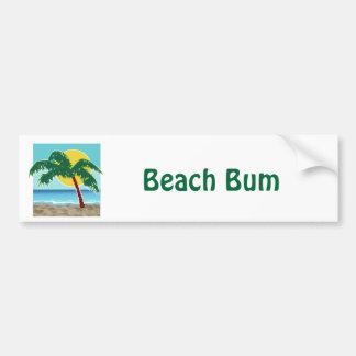 Mar y Sun de la palma Etiqueta De Parachoque