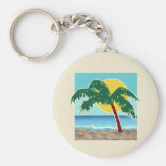 Mar y Sun de la palma Llavero Redondo Tipo Pin