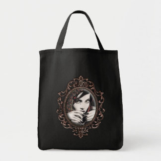 """Mara"" Gothic Martini Glass Gothic Canvas Tote"