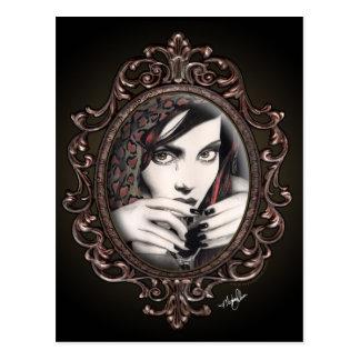 """Mara"" Martini Tears Gothic Fantasy Postcard"