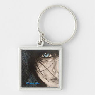 """mara"" watercolour by Claire Wiles keyring Silver-Colored Square Keychain"