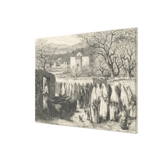 Marabout and Procession: Tlemcen Canvas Print