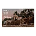 Marabut near Biskra, Algeria vintage Photochrom Business Card