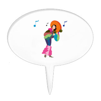 maraca player female dressed up.png cake topper