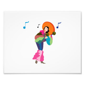 maraca player female dressed up.png photographic print