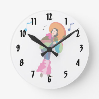 maraca player female dressed up.png round clock
