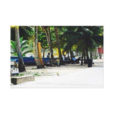 Beach Themed Maracas Beach - Trinidad - Canvas Art - Pirogues