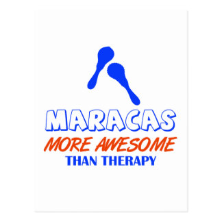 maracas design postcard