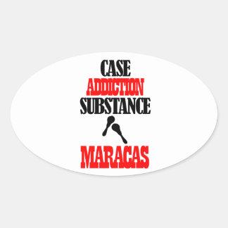 MARACAS designs Oval Sticker