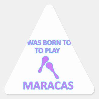 Maracas Designs Triangle Sticker