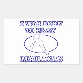 Maracas Designs Rectangular Sticker